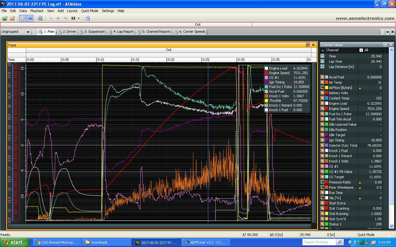 AEM data log vtec tuning