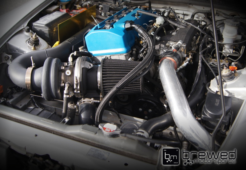 full race S2000 turbo kit tuned by Brewed Motors