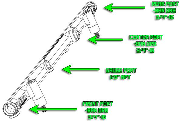 20-0217 Radium Engineering RB26DETT Nissan Skyline GT-R Fuel Rail