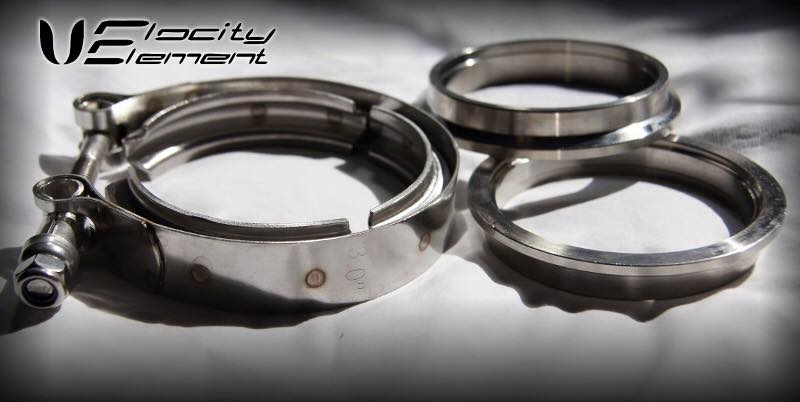 velocity element 3 inch stainless steel vband kit