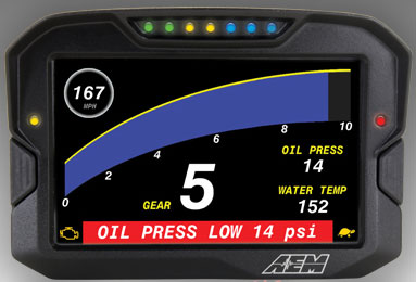 30-5501 AEM Electronics CD7-L Digital Dash Display with Datalogger