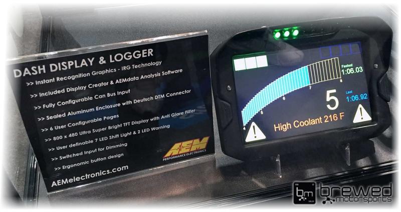 aem cd7-L digital dashboard and data logger