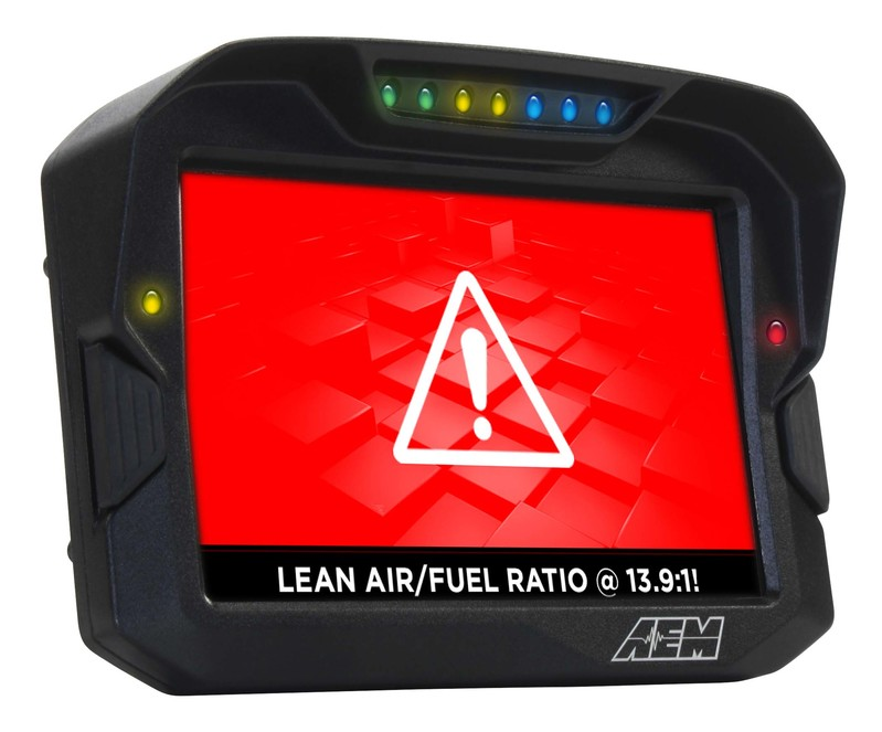 AEM Electronics CD7 / CD7-L Digital Dash Display Lean Air Fuel Ratio Warning
