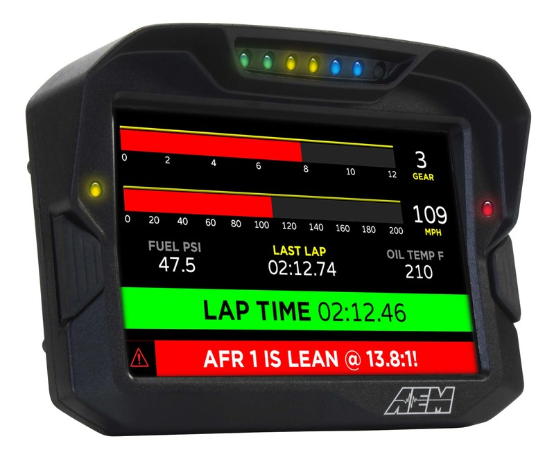 AEM Electronics CD7 / CD7-L Digital Dash Display Lap Timer