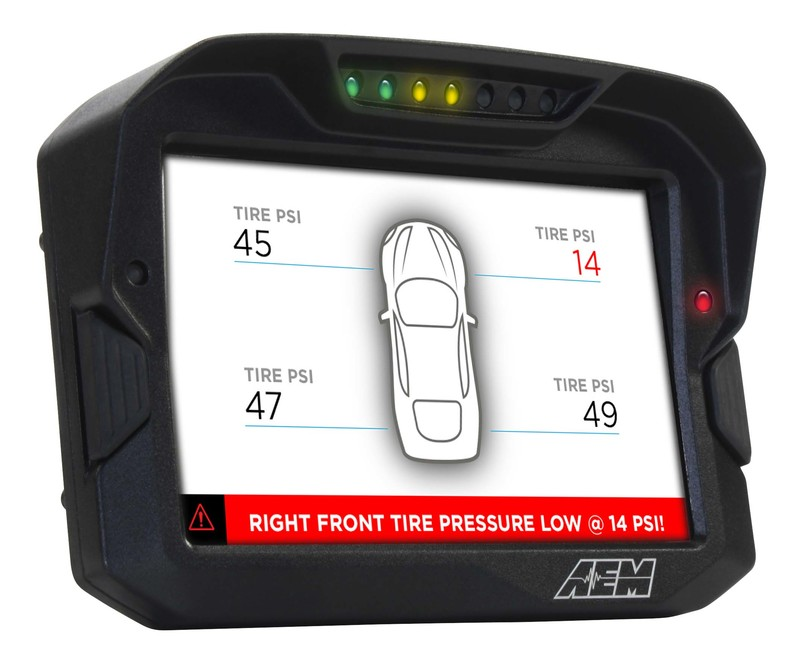 AEM Electronics CD7 / CD7-L Digital Dash Display Tire Pressure Warning