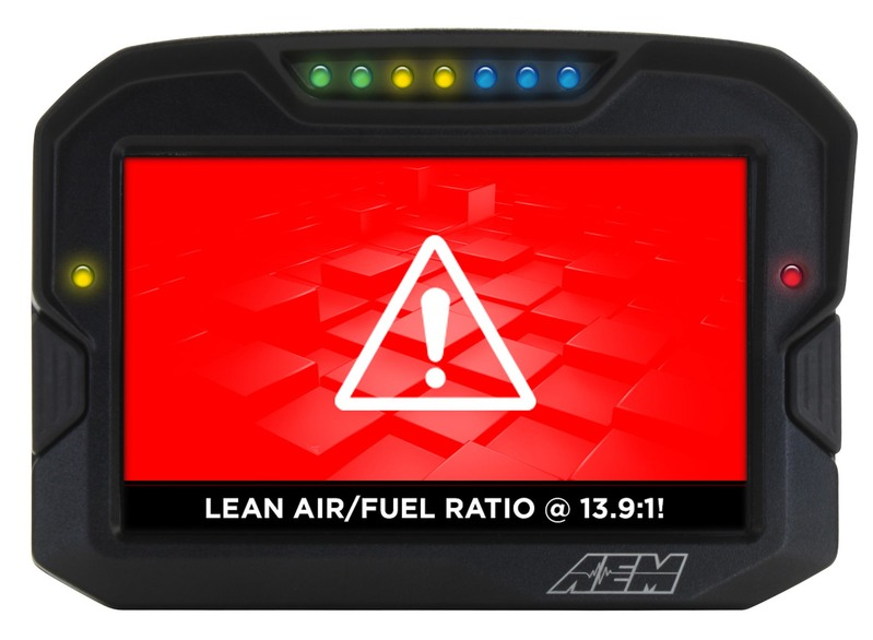 AEM Electronics CD7 / CD7-L Digital Dash Display Lap Timer Lean Air Fuel Ratio Warning Screen