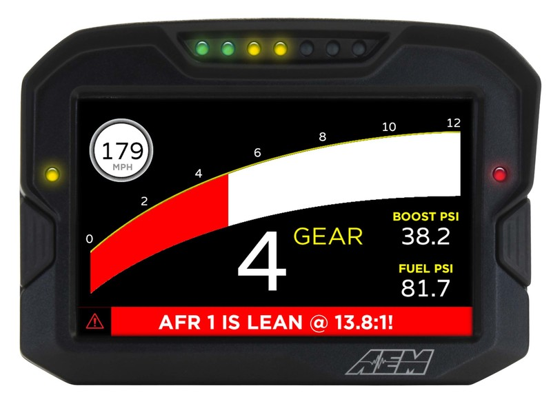 AEM Electronics CD7 / CD7-L Digital Dash Display Lap Timer Lean Air Fuel Ratio Warning Gauge Screen