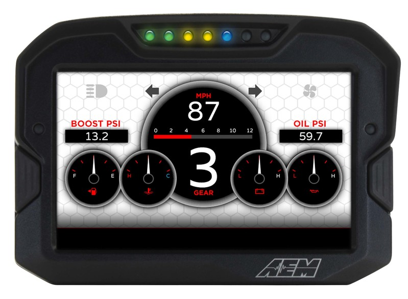 AEM Electronics CD7 / CD7-L Digital Dash Display Screen options