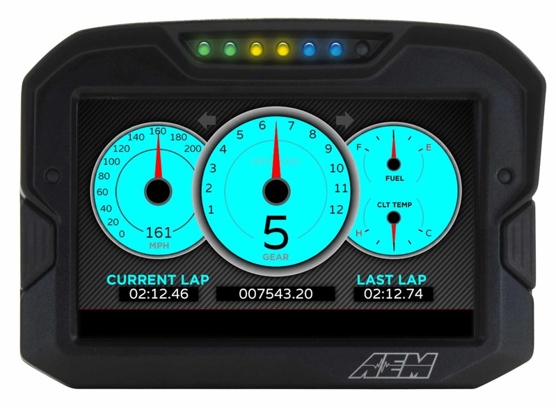 AEM Electronics CD7 / CD7-L Digital Dash Display Screen Option