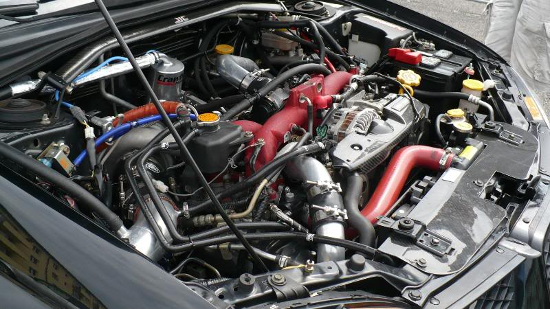 full race twin scroll 35R turbo kit with crawford IC kit