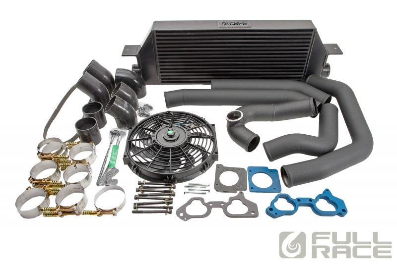 Full Race subaru STI intercooler kit with reverse mount intake manifold