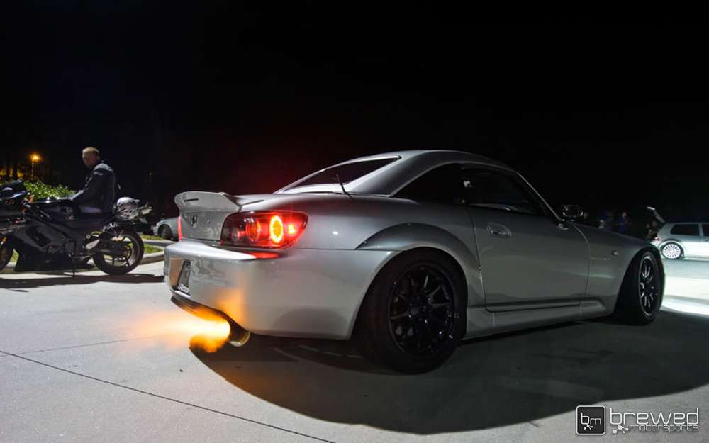 Honda S200 flame thrower