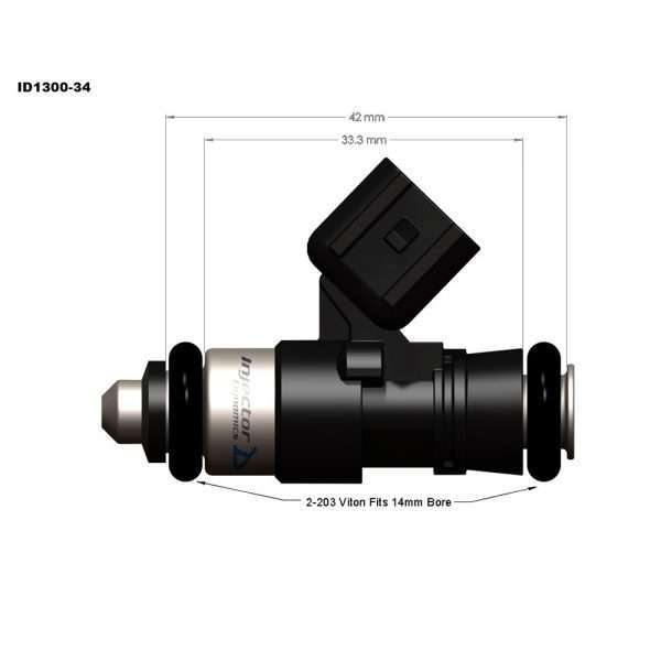 Injector Dynamics ID300-34 fuel injector