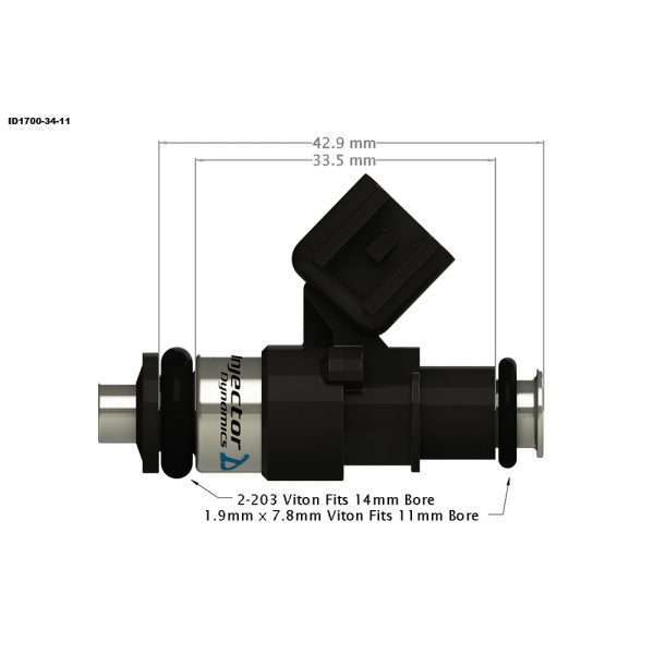 Injector Dynamics 1700-34-11 Fuel Injector