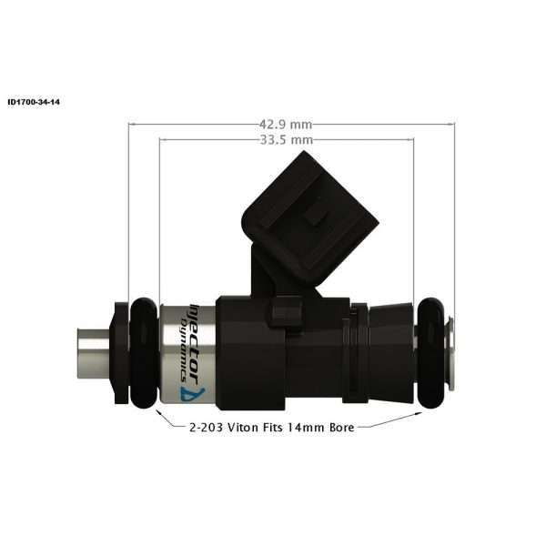 Injector Dynamics 1700-34-14 Fuel Injector