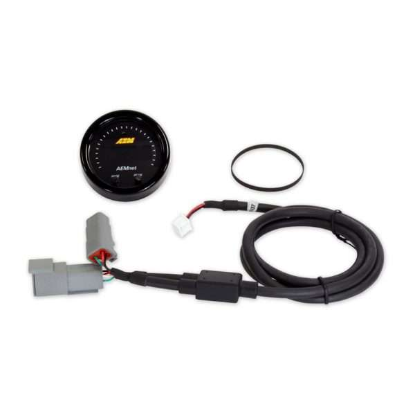 Parts included with AEM CAN bus gauge