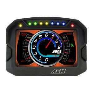 AEM CD-5 Carbon Digital Racing Dash display (on)