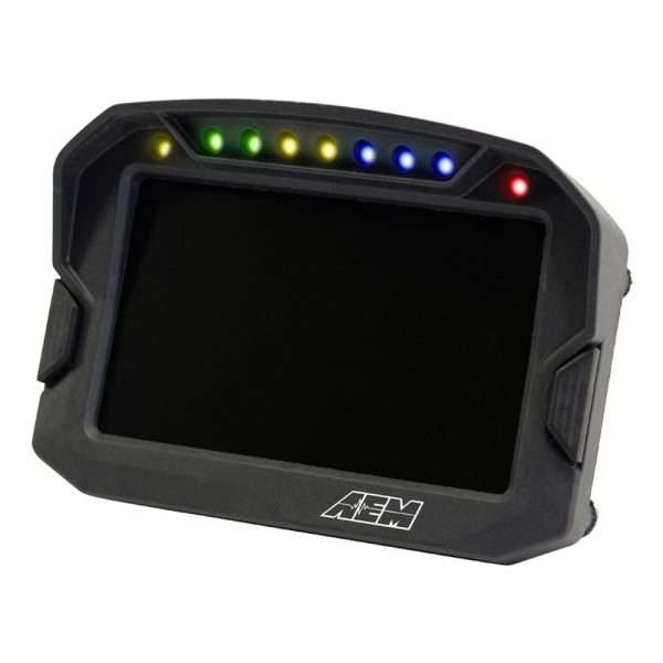 AEM CD-5 Carbon Digital Racing Dash display (angled view)