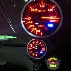 Defi gauges in Nissan S15