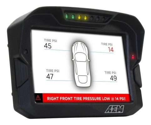 AEM CD-7 Dash tire pressure monitoring
