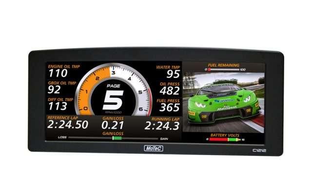 MoTec C1212 digital display