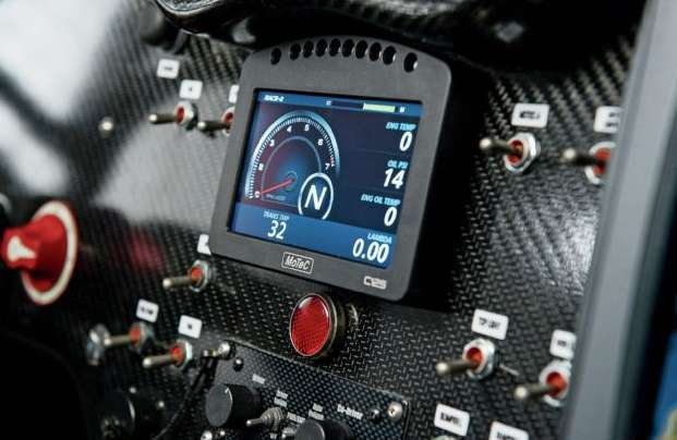 MoTec C125 dash display