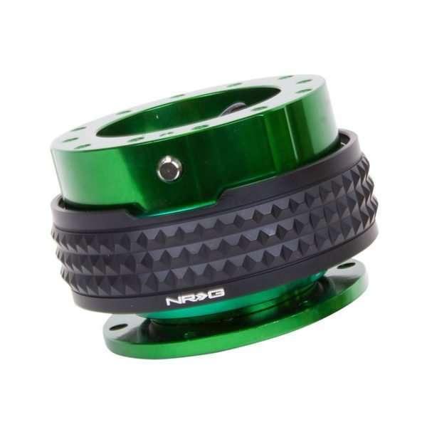 NRG Gen 2.1 Quick Release - Green Body/Black Pyramid Ring