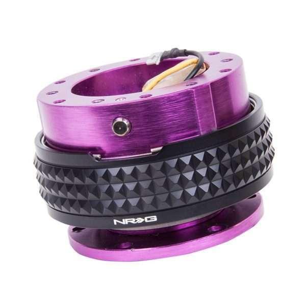 NRG Gen 2.1 Quick Release - Purple Body/Black Pyramid Ring