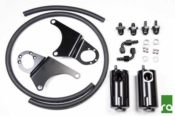 Radium Engineering dual catch can kit for Mitsubishi Evo 8 & 9