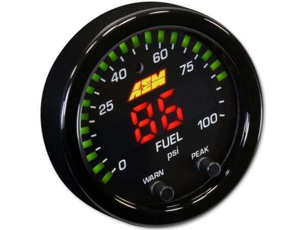 AEM Fuel Pressure Gauge black face